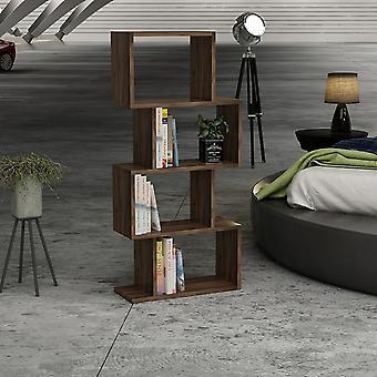 Libreria Hydra Color Noce Scuro in Truciolare Melaminico 116,4x22x53,5 cm