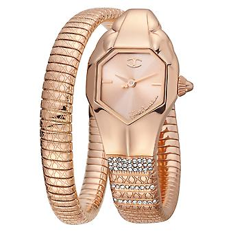 Just Cavalli Glam Chic Snake Watch JC1L113M0035 - Plated Stainless Steel Ladies Quartz Analogue