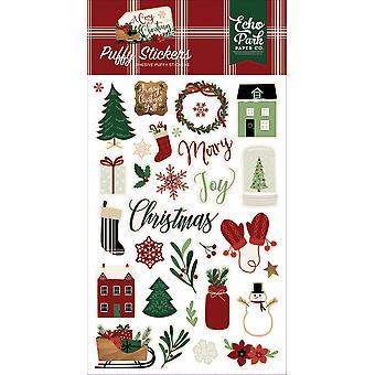 صدى بارك ملصقات دافئ عيد الميلاد منتفخ