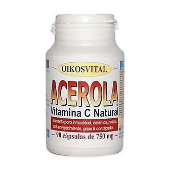 Acérola avec vitamine C 90 capsules de 725mg