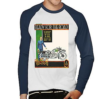 BSA Ready For The Road Men's Baseball Long Sleeved T-Shirt