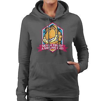 Garfield en leende katt du kan aldrig lita på kvinnor ' s Huvtröja
