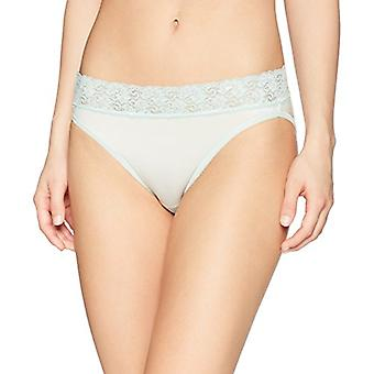 Brand - Arabella Women's Soft Microfiber Panty with Lace Waist, 3 Pack...