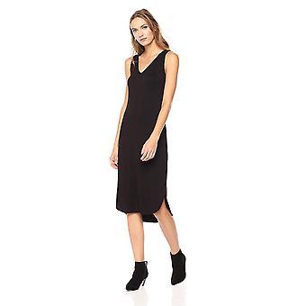 Daily Ritual Women's Jersey Sleeveless V-Neck Dress, Noir,, Noir, Taille X-Small