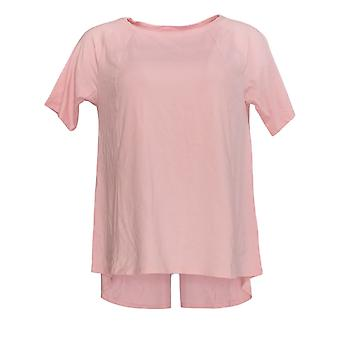 AnyBody Women's Top Short-Sleeve Swing Hem Pink A349828