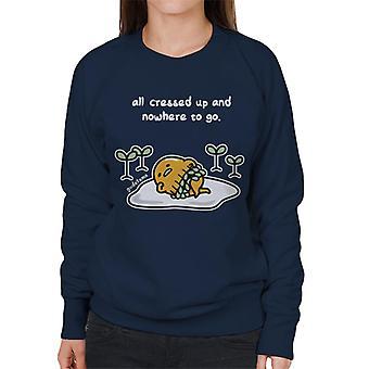 Gudetama All Cressed Up And Nowhere To Go Women's Sweatshirt