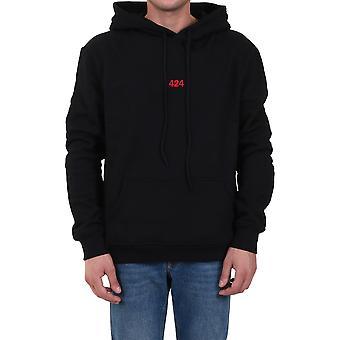 424 80081150999 Men's Black Cotton Sweatshirt