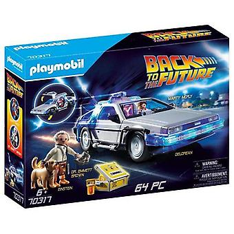 Playset Action Racer De Volta para o Futuro DeLorean Playmobil 70317