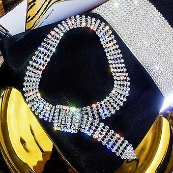 Strass krage Choker Halsband - Silver