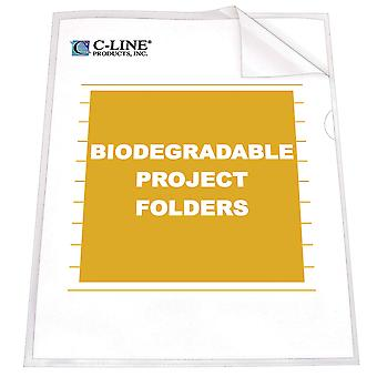 62627BNDL2BX, Biodegradable Project Folders, Reduced Glare, 11 x 8 1/2, 25/BX (Set of 2 BX)