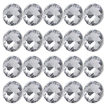 20pcs 20mm Size-3 Silver Color Round Crystal Sew Buttons