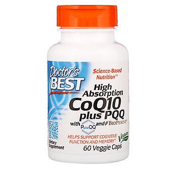 Doctor's Best, High Absorption CoQ10 Plus PQQ, 60 Veggie Caps