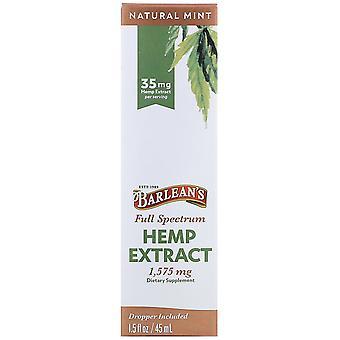 Barlean's, Full Spectrum Hemp Extract, Natural Mint, 35 mg, 1.5 fl oz (45 ml)