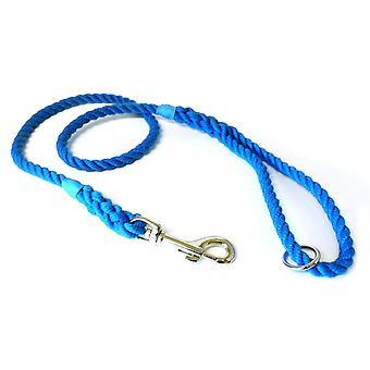 Kjk Ropeworks Clip & Ring Lead - Blue - 8mm x 120cm
