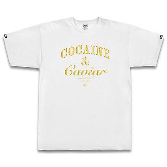 Crooks & Castles Cocaine and Caviar T-shirt White Gold
