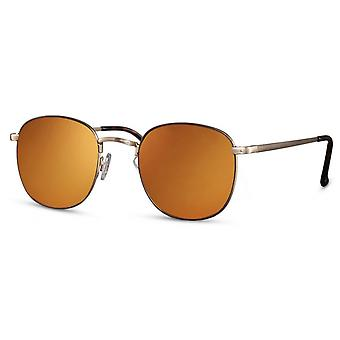 Sunglasses unisex panto kat. 3 gold/orange