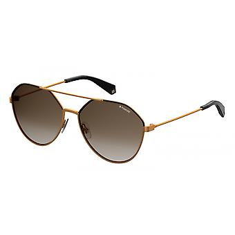 Sunglasses Unisex 6059/Sycc/LA gradient gold/brown