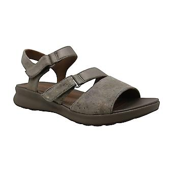 Clarks Women's Shoes Un Adorn Ease Leather Open Toe Casual Slingback Sandals