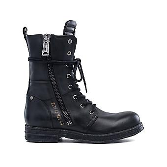 Replay Women's Evy Lace Up Leather Combat Boots