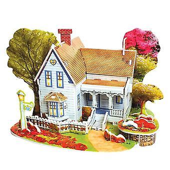 3d-puzzle-fai-da-- Costruzione-giocattoli, Card-modello Costruzione-set, Romantico-