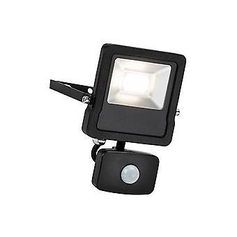 Saxby Surge Pir - Integroitu LED PIR Ulkoseinän tulvavalo Matta Musta, Lasi IP44