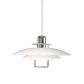 1 Light Dome Ceiling Pendant Glossy White, E27