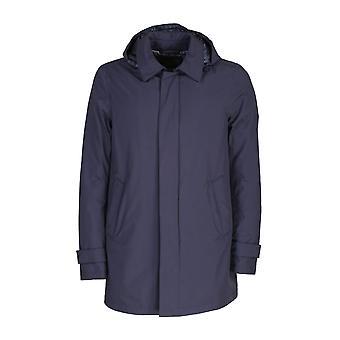 Herno Pi107ul111219201 Heren's Blue Viscose Outerwear Jacket