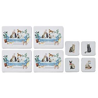 Cooksmart Curious Cats Placemats and Coasters
