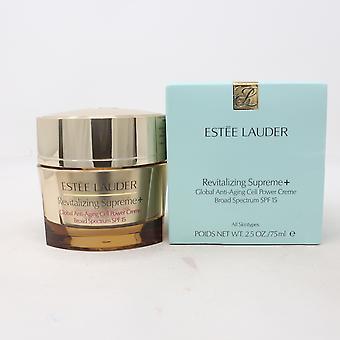 Estee Lauder rivitalizzante supremo + ampio spettro SPF 15 75ml/2.5 oz nuovo In scatola