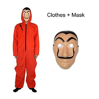 Dali Mask Red Costume For La Casa De Papel Coverall Jumpsuits