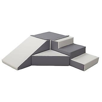 Legende skum blokke med slide hvid og grå