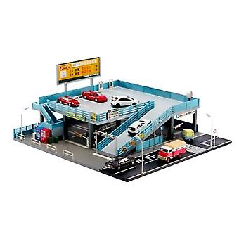 1/64 Miniature Model, Japanese Style Model Car Toy Scene  Street-view Double