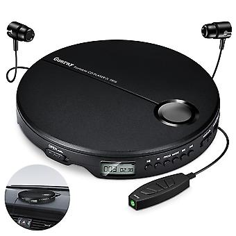 Portable Cd Player Shockproof Compact Hifi Music Cd Avec écouteurs Walkman