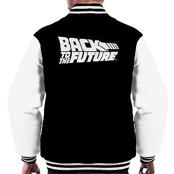 Back to the Future White Logo Men's Varsity Jacket