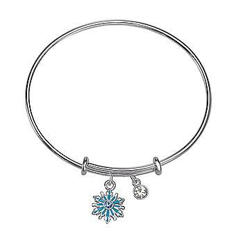 Kids's Frozen Snowflake Silver Plated Ajustable Bracelet