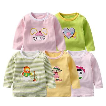 Baby T-shirts Full Sleeve Kleidung Baumwolle T-Shirts Tops Neugeborenen Cartoon Tier