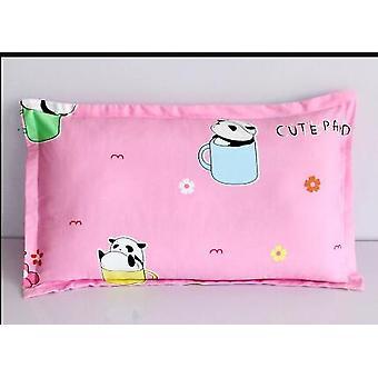 Bonita impresión de dibujos animados suave algodón almohada cubierta (30x50cm)