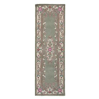 Lotus Premium Aubusson Teppich - Läufer - Grün