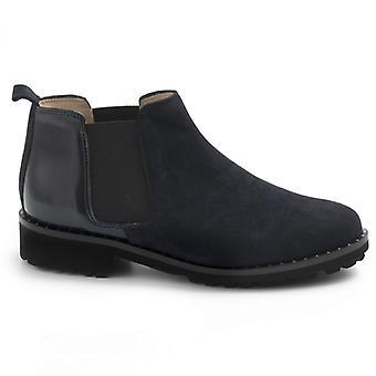 Blå Sangiorgio Blå Ruskind og Paint Ankel Boot
