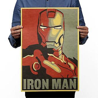 Iron-man Vintage Kraft Paper-movie, Poster Magazine Home-decoration,  Art