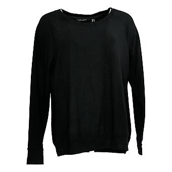 H by ハルストン・ウーマン&アポス;s スクープネックフレンチテリースウェットシャツブラックA300838