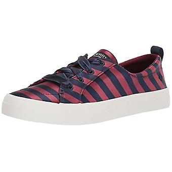 Sperry Women's Crest Vibe Varsity Stripe Satin Sneaker