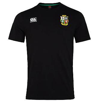 Canterbury British & Irish Lions Rugby Cotton Jersey Tee | Mens | Black | 2021