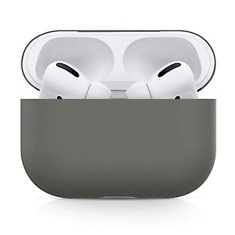 SIFREE Flexible Case for AirPods Pro - Silicone Skin AirPod Case Cover Smooth - Dark Gray