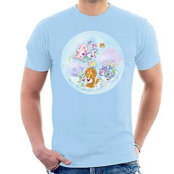 Omsorg Bears Brave Heart Lion Rosa Trær Menn's T-skjorte