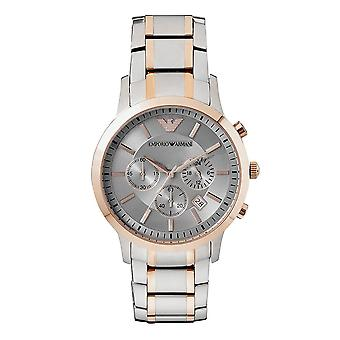 Armani Ar11077 Stainless & Rose Gold Men's Chronograph Watch