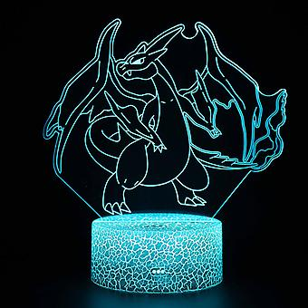 3D Touch Light Night 7 colors remote control - Pokemon #1495
