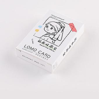 28 סדינים / סט חמוד אוסף ציור Lomo כרטיס קריקטורה