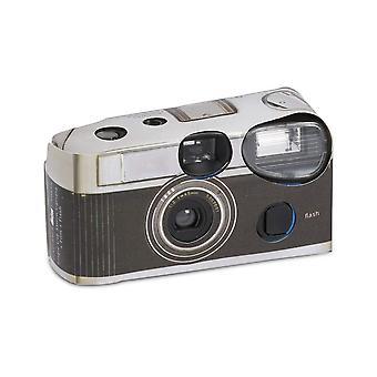Weddingstar Einweg-Kamera mit Blitz Vintage Design schwarz Pack 10