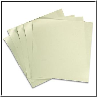 10 Silver Pearlescent Double Sided Paper Inserts 130 x 130 mm